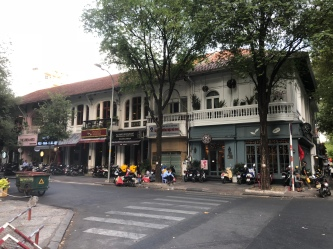 Lots of colonial old shophouses in Ho Chi Minh city
