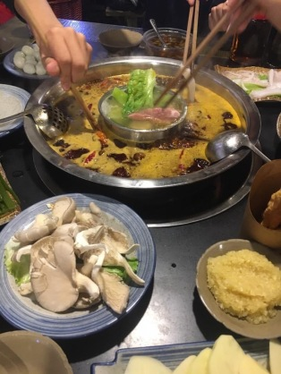 Hotpot is a must try in chongqing