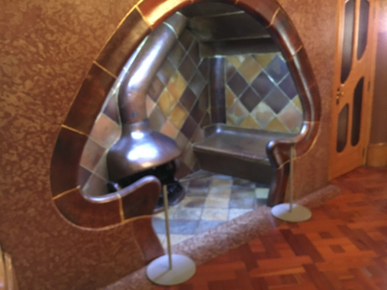 Antonio Gaudi is inspired by nature... and this is a mushroom.