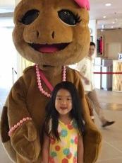 Turtle mascot at the golden sands resort