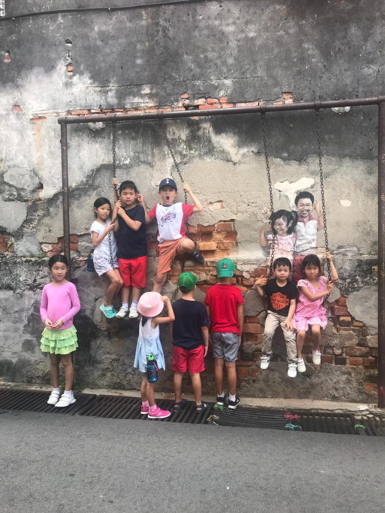 Some street art in George Town are very popular