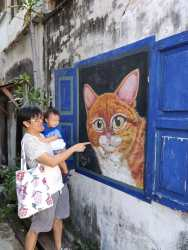 Some street art are found in back lanes