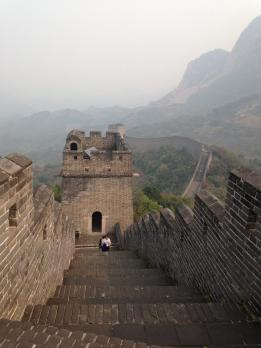 great wall in tianjin can be relatively steep
