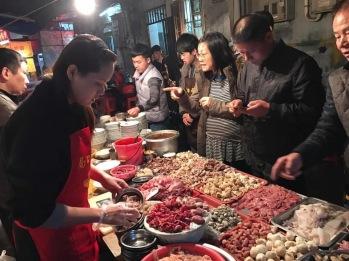 Street food at Zhongshan Lu (中山路)