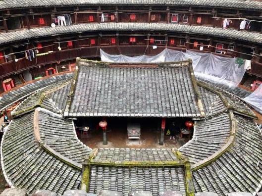 Roof of Fujian tuluo in China.