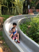 Slide at playground of Jubilee Park fort canning