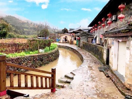 River around Fujian tuluo in China.