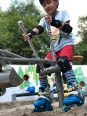 Digger at Bishan-Ang Mo Kio Park playground