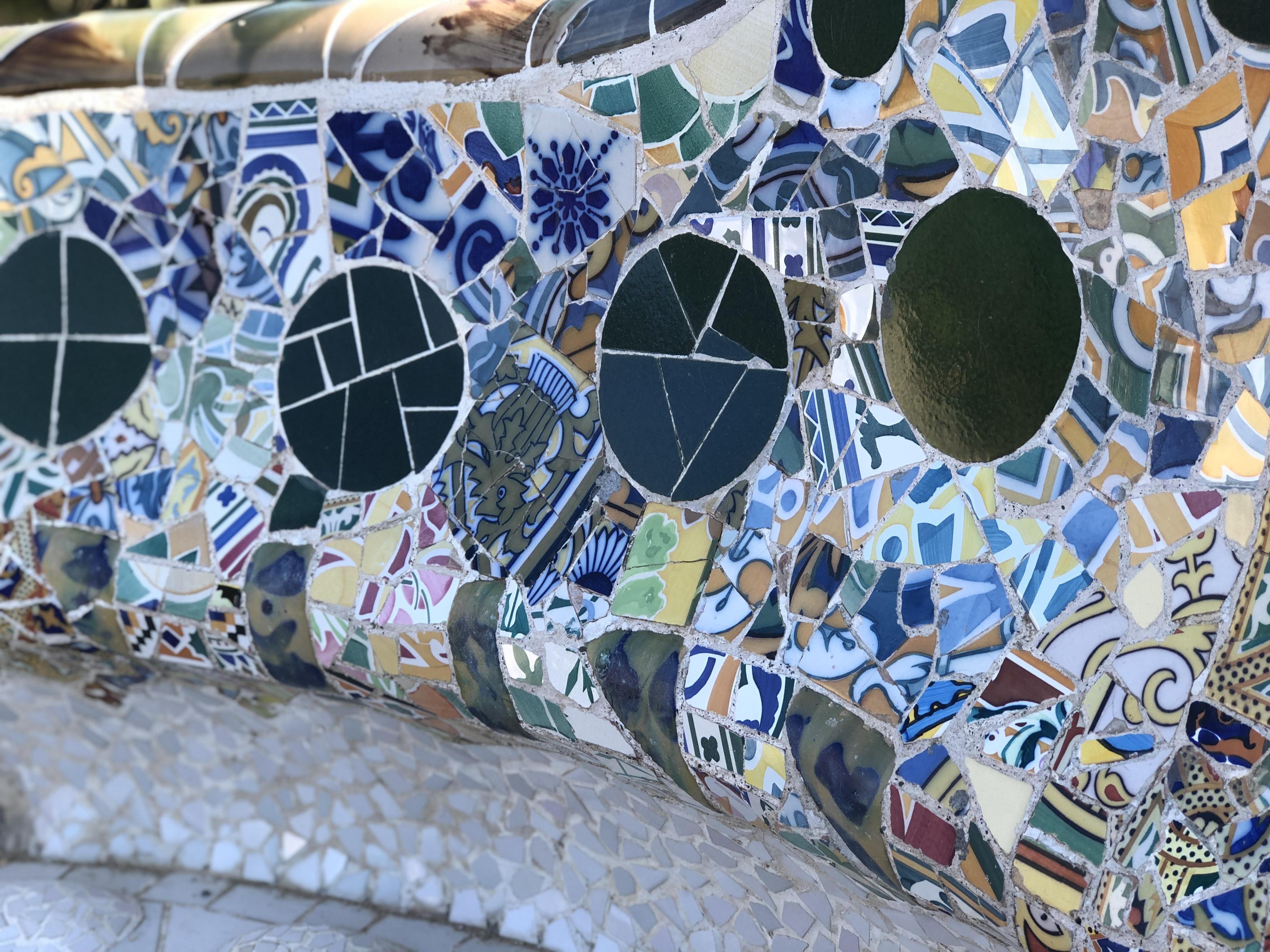 Mosaic of Gaudi at park Güell
