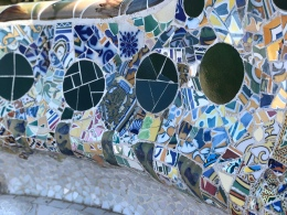 Mosaic of Gaudi at park Güell