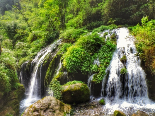 Three-Gorges Tribe Scenic Spot waterfall