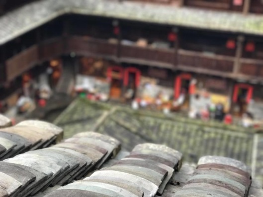 Roof tiles of Fujian tuluo.