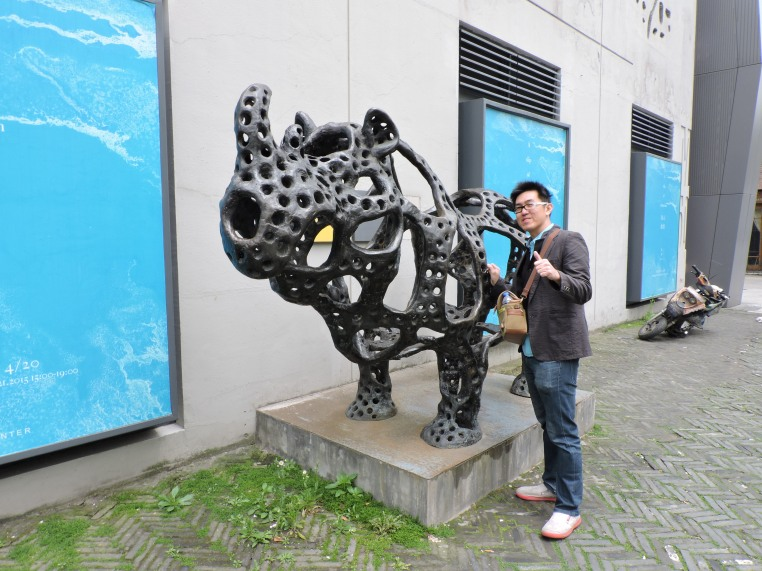 Look out for sculptures around 50 Moganshan Road art district