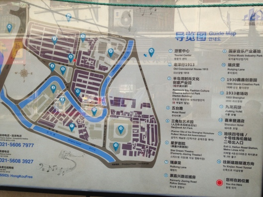 map of around this shanghai art district