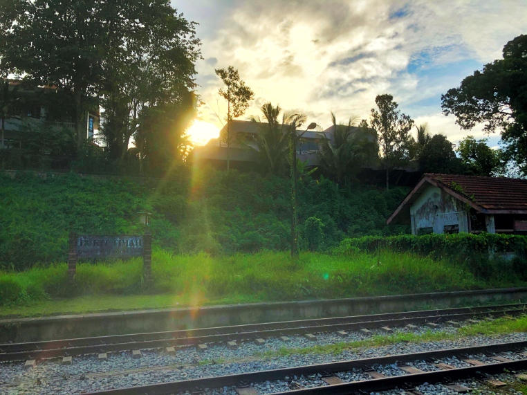 Walk along the dirt road for another 3-5min and you will reach the old railway station.