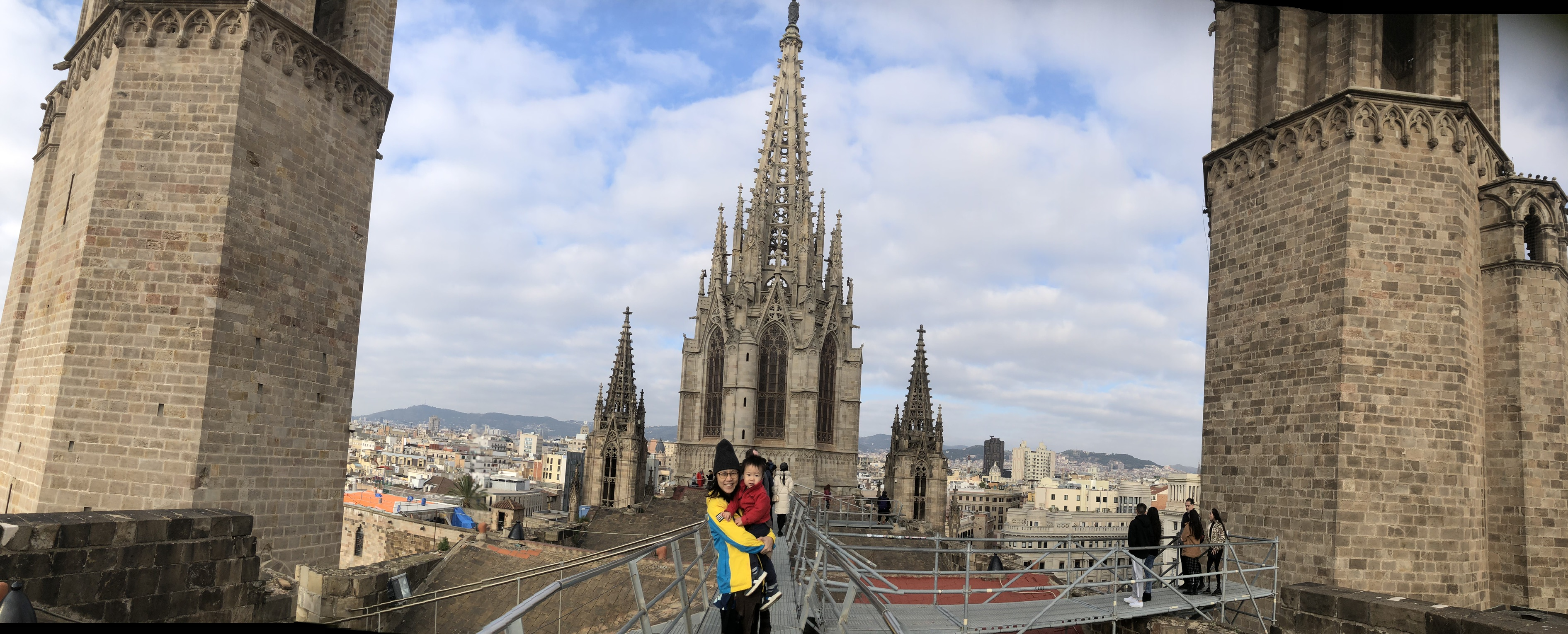 Roof top of Barcelona cathedral