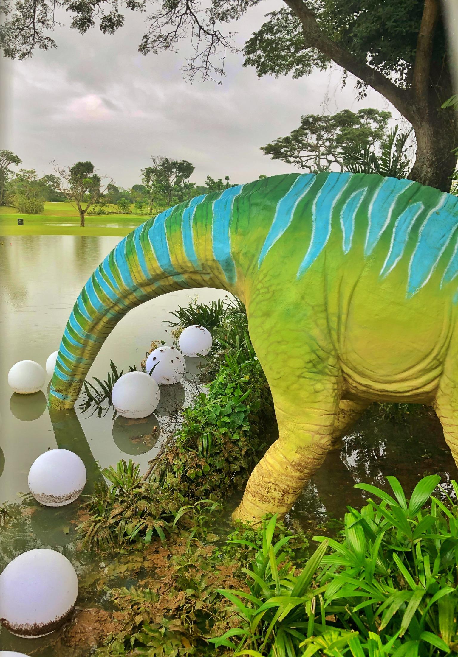 brachiosaurus of changi jurassic mile