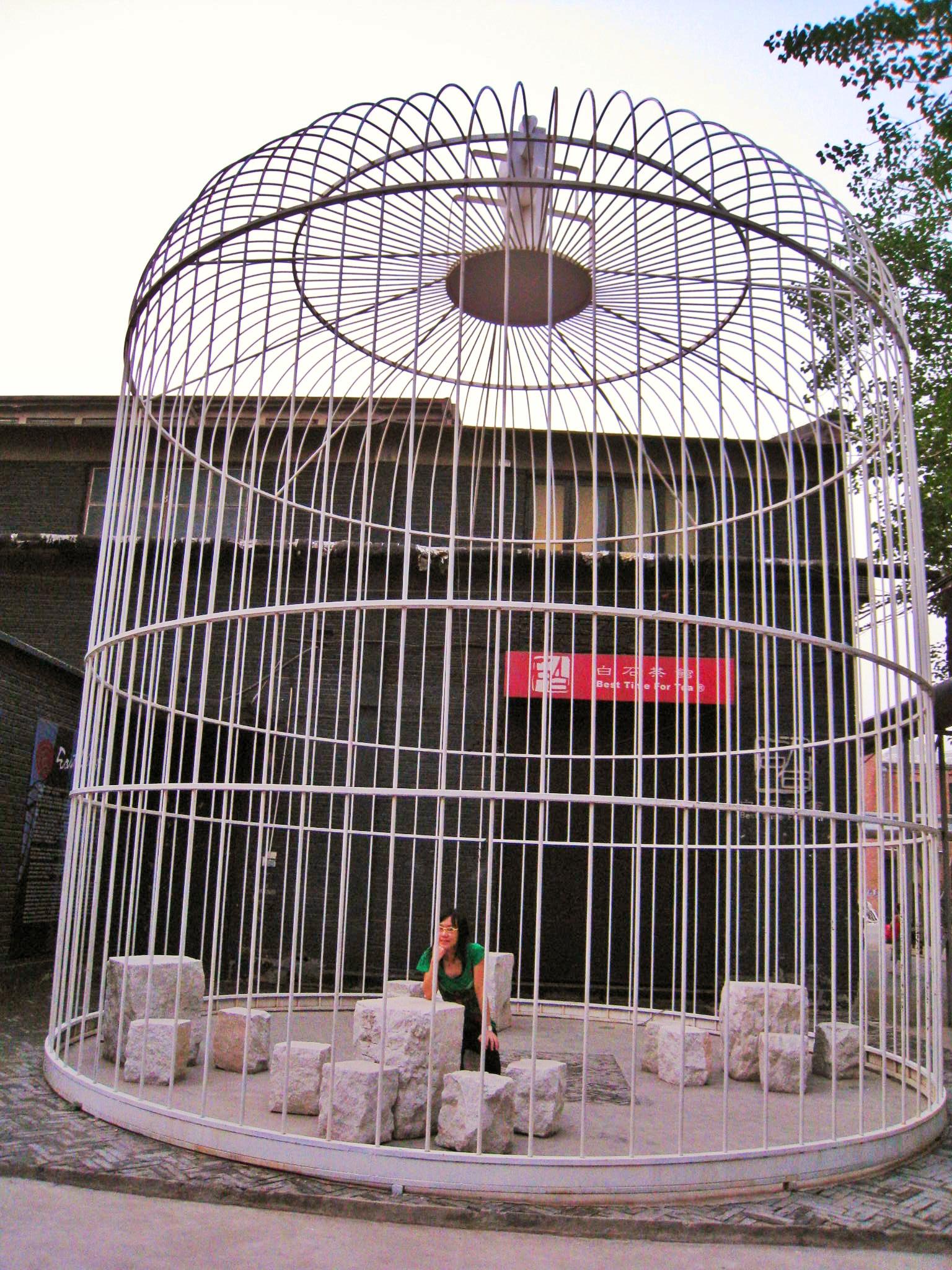 798 Art district art installation - bird cage