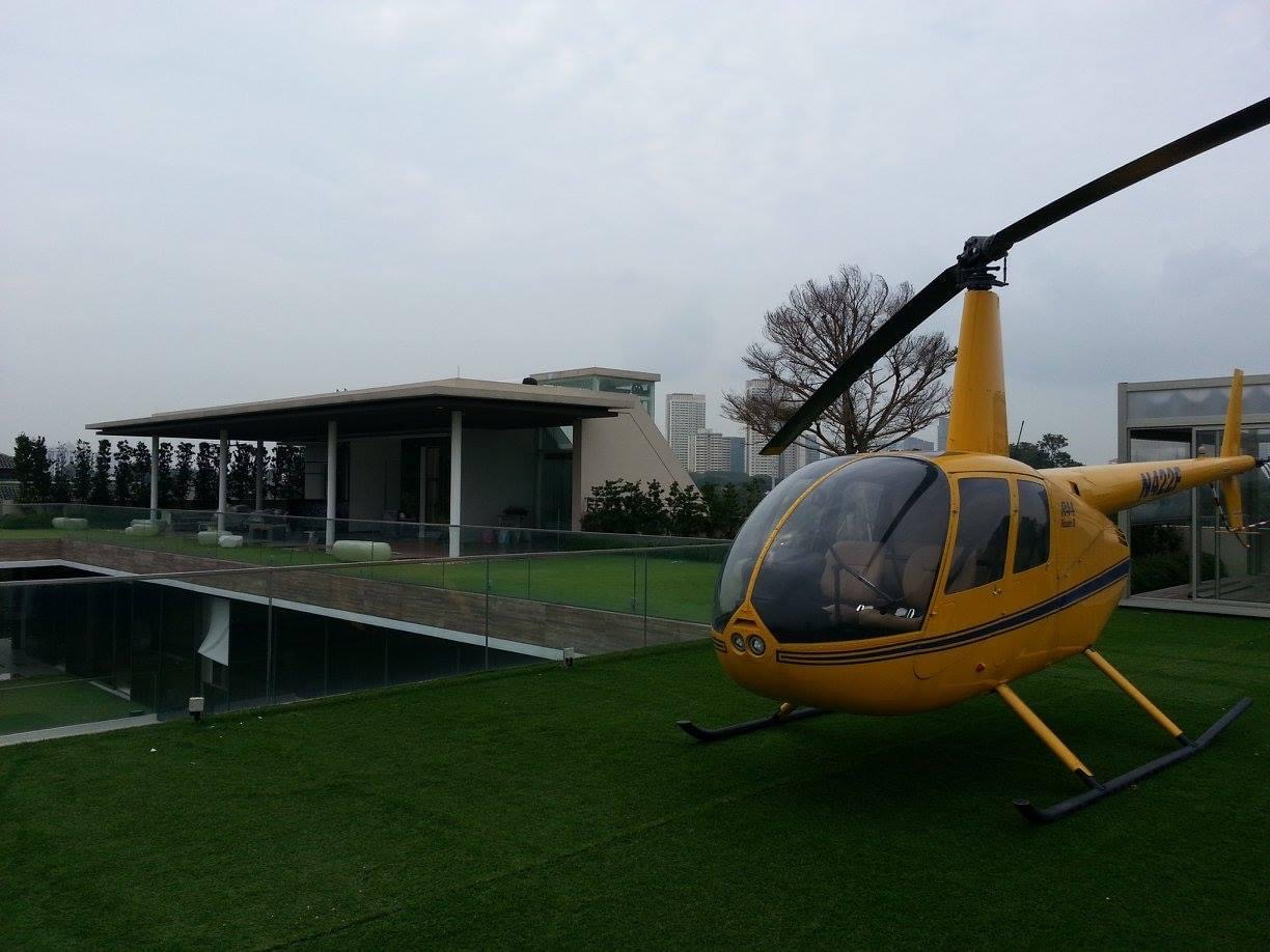 helicopter in house