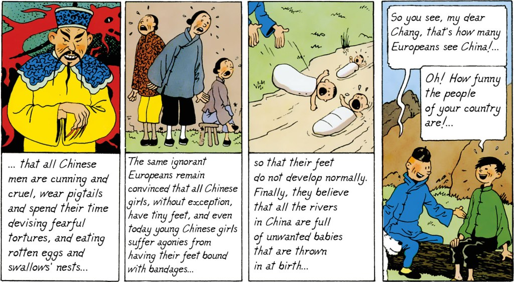 Tintin and chang - understanding each other's culture