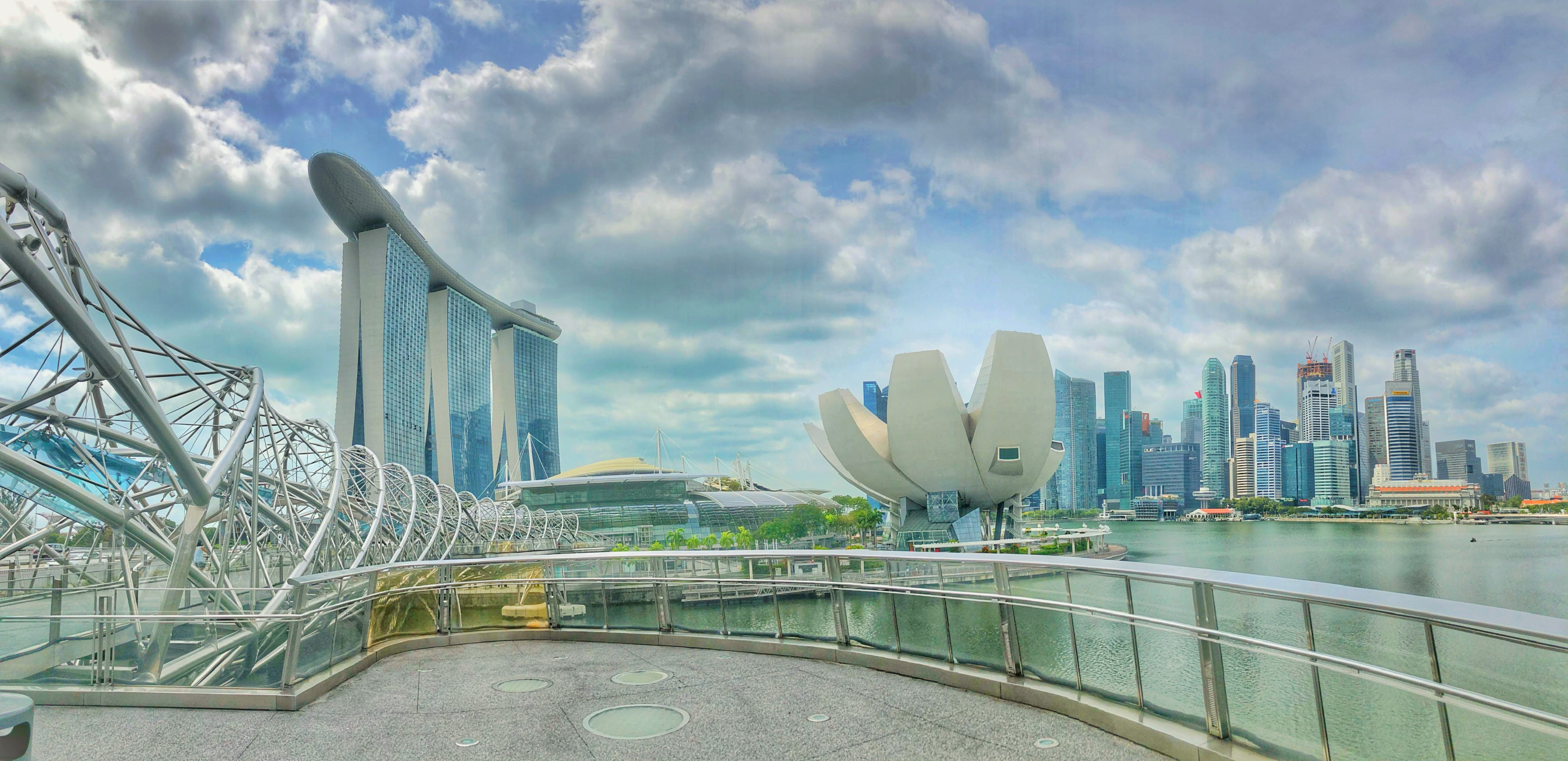 city skyline singapore