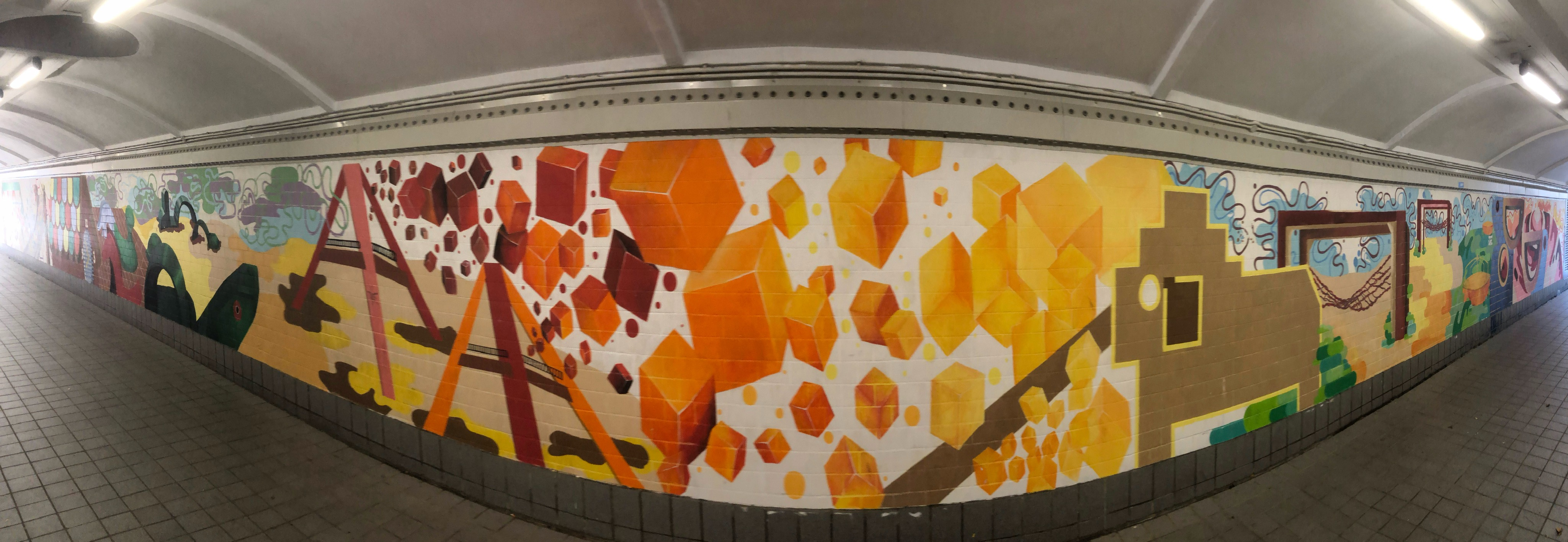 Underpass murals along Singapore River